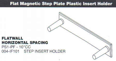 "Flat Magnetic Step Plate 10"" CC Insert Horizontal - Precast Supplies:Magnetic Step Pins"